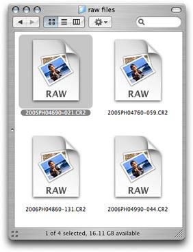 Select a raw file