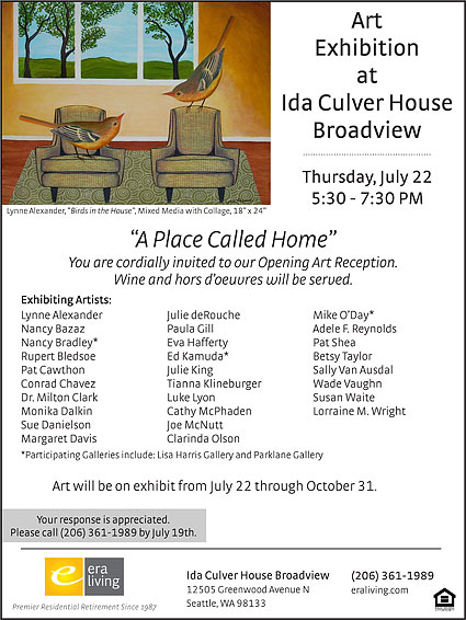 A Place Called Home exhibition flyer