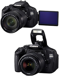 Canon 600D/T3i: Wireless flash control and swivel LCD