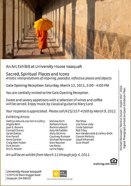 Sacred Spiritual Places and Icons exhibition flyer