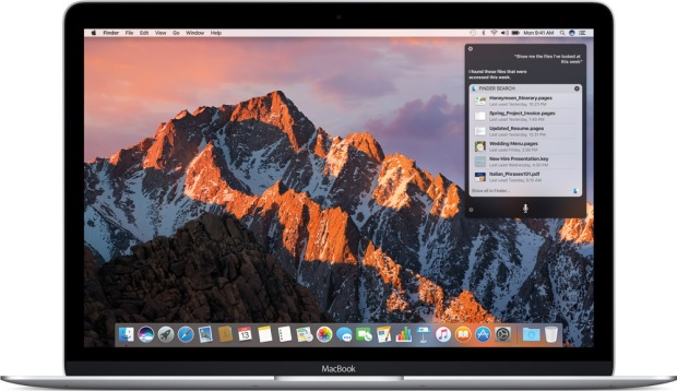 macOS 10.12 Sierra image, courtesy Apple Inc.