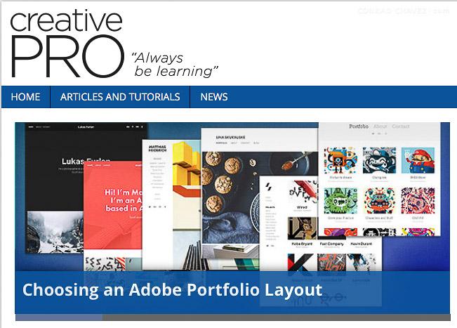 Choosing an Adobe Portfolio Layout: CreativePro.com article ...