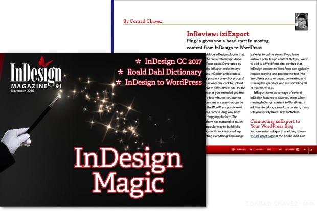 Indesign magazine conrad chavez blog indesign to wordpress iziexport review for indesign magazine fandeluxe Image collections