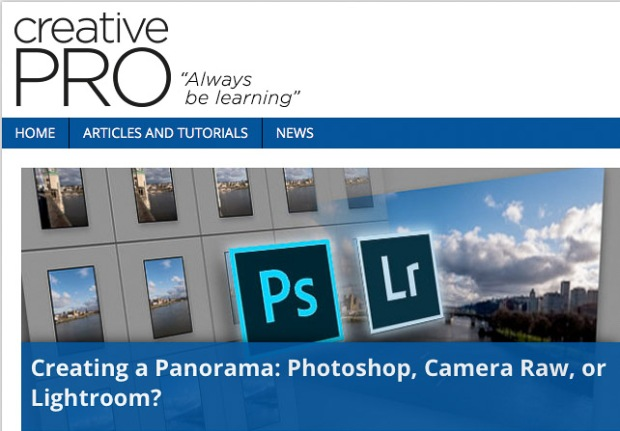 "Featured image for the article ""Creating a Panorama- Photoshop, Camera Raw, or Lightroom?"""