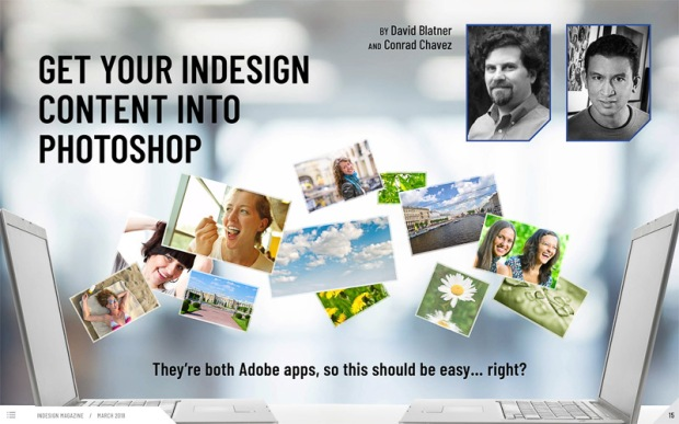 First page of article From InDesign to Photoshop in InDesign Magazine