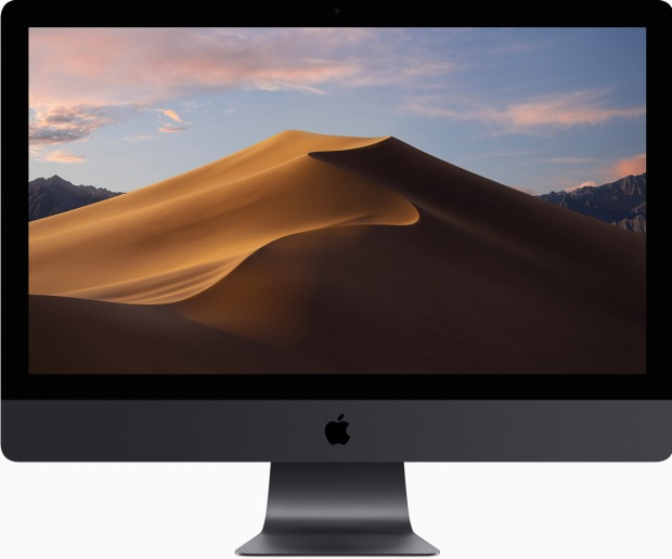iMac with mac OS 10.14 Mojave desktop image